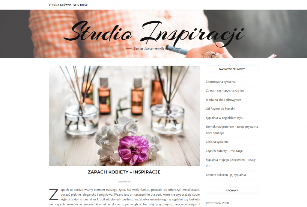 Zapach Kobiety Blog Studio Inspiracji